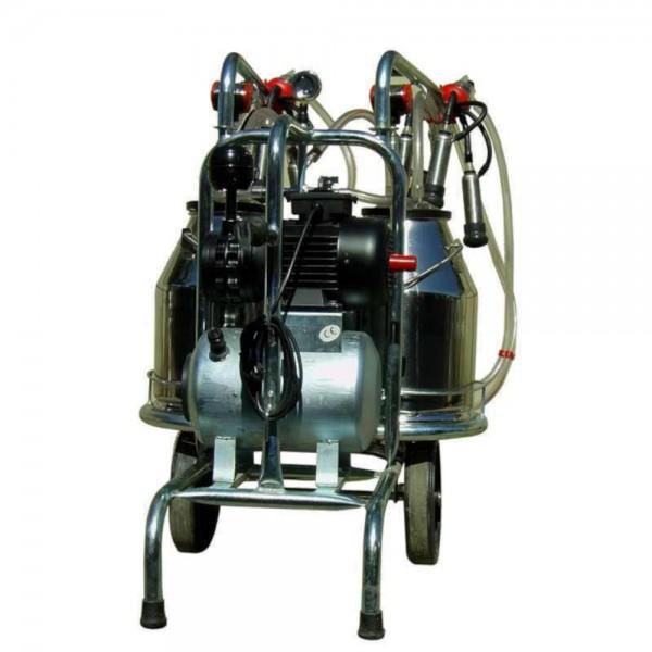 Produse, Instrumentar & Aparatura Veterinara | Gard Electric | Crotalii Animale - Aparat de muls vaci 30L 2 bidoane inox cu 2 posturi EMT2+2S30