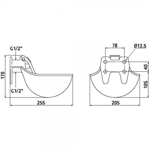 Produse, Instrumentar & Aparatura Veterinara | Gard Electric | Crotalii Animale - Adapatoare fonta cu clapeta inox