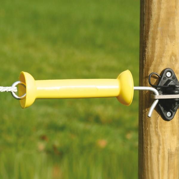 Produse, Instrumentar & Aparatura Veterinara | Gard Electric | Crotalii Animale -Maner poarta premium galben Koltec