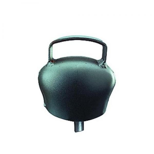 Produse, Instrumentar & Aparatura Veterinara | Gard Electric | Crotalii Animale - Clopot otel h 64 negru-albastrui