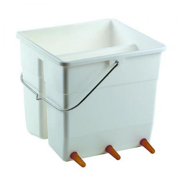 Produse, Instrumentar & Aparatura Veterinara | Gard Electric | Crotalii Animale - Galeata alaptare miei 6 tetine 11L