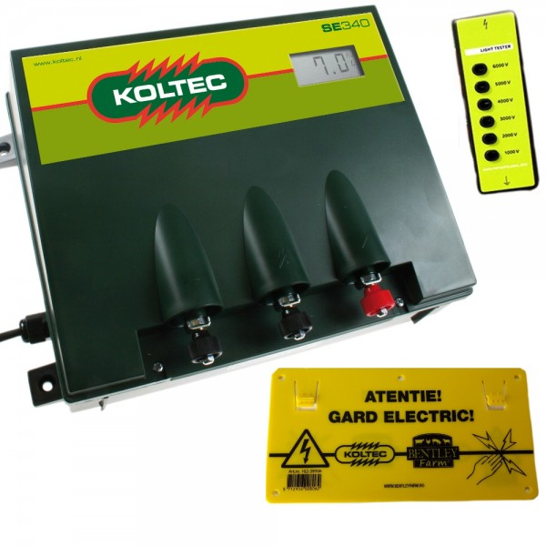 Produse, Instrumentar & Aparatura Veterinara | Gard Electric | Crotalii Animale - Generator impulsuri Koltec SE340 retea g...