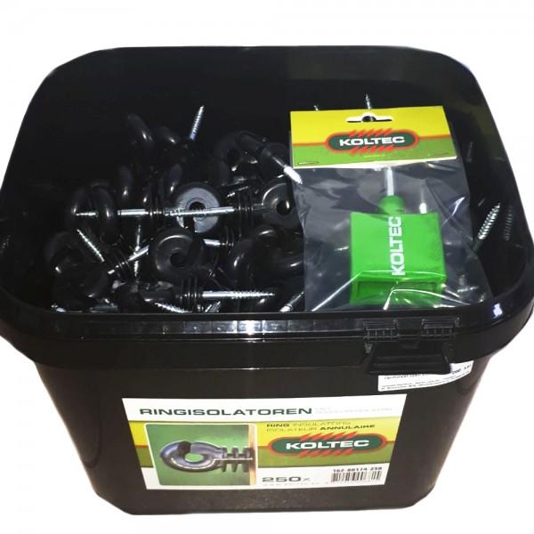 Produse, Instrumentar & Aparatura Veterinara | Gard Electric | Crotalii Animale -Galeata Izolatori Holzsurub Ranforsati 2...