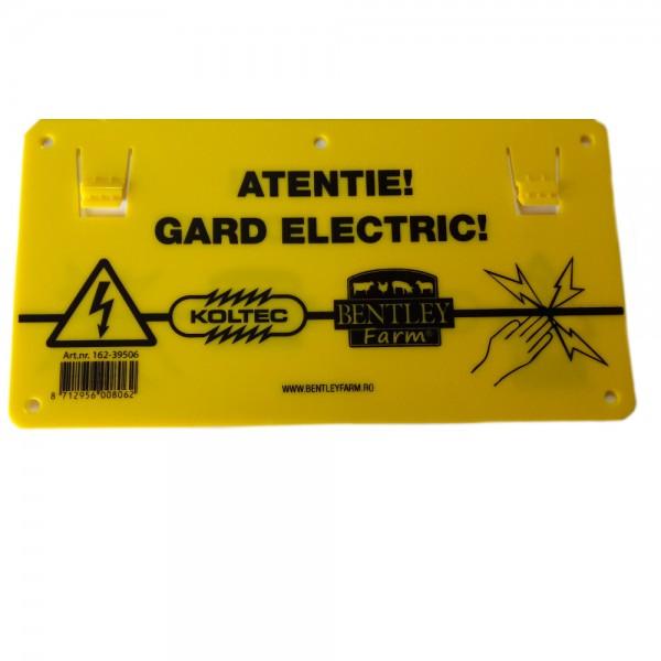 Produse, Instrumentar & Aparatura Veterinara | Gard Electric | Crotalii Animale - Semn avertizare gard electric Koltec