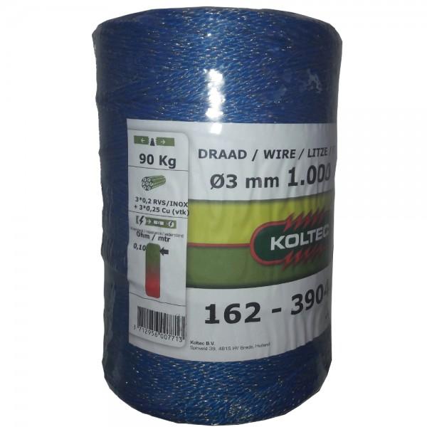 Produse, Instrumentar & Aparatura Veterinara | Gard Electric | Crotalii Animale -Conductor tip fir Koltec 6 fire albastru...