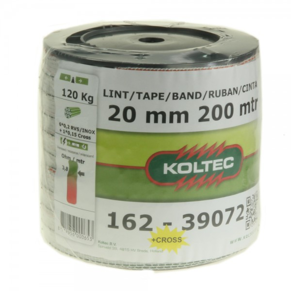 Produse, Instrumentar & Aparatura Veterinara   Gard Electric   Crotalii Animale - Conductor tip banda Koltec 20mm 200m