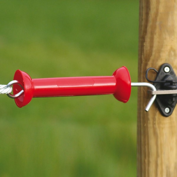 Produse, Instrumentar & Aparatura Veterinara | Gard Electric | Crotalii Animale -Maner poarta premium rosu Koltec