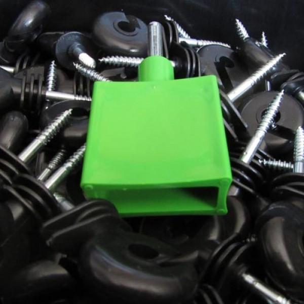 Produse, Instrumentar & Aparatura Veterinara | Gard Electric | Crotalii Animale - Galeata Izolatori Holzsurub Ranforsati 250 buc + dispozitiv insurubare Koltec