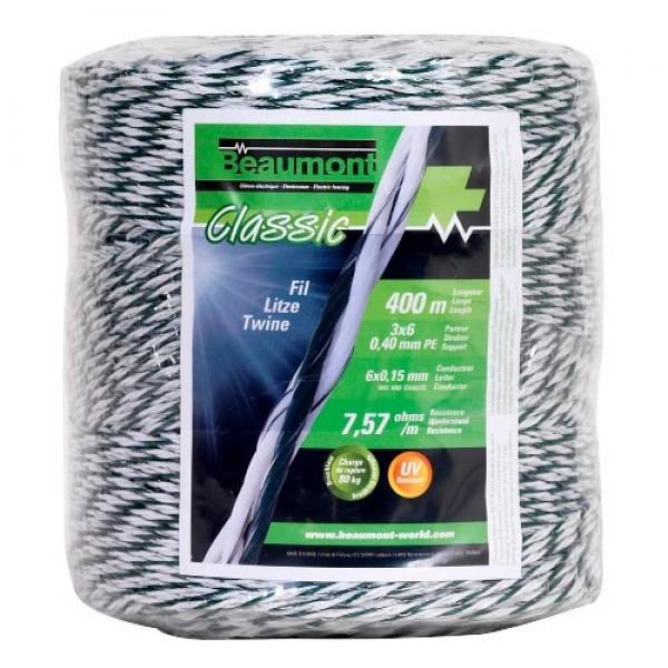 Produse, Instrumentar & Aparatura Veterinara | Gard Electric | Crotalii Animale -Conductor polifir Alb/Verde, 3mm, 400m